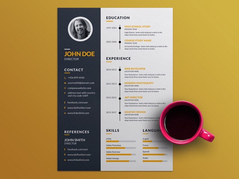 5 Downloadable Free Resume Templates 2019 Download Now Graphicslot