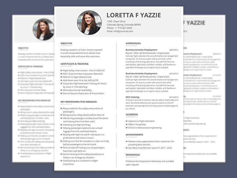 Simple Resume Format For Cabin Crew Freshers Graphicslot