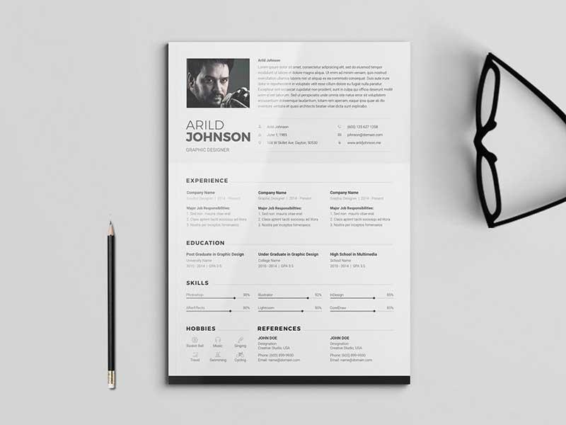 resume-template-psd-free-20