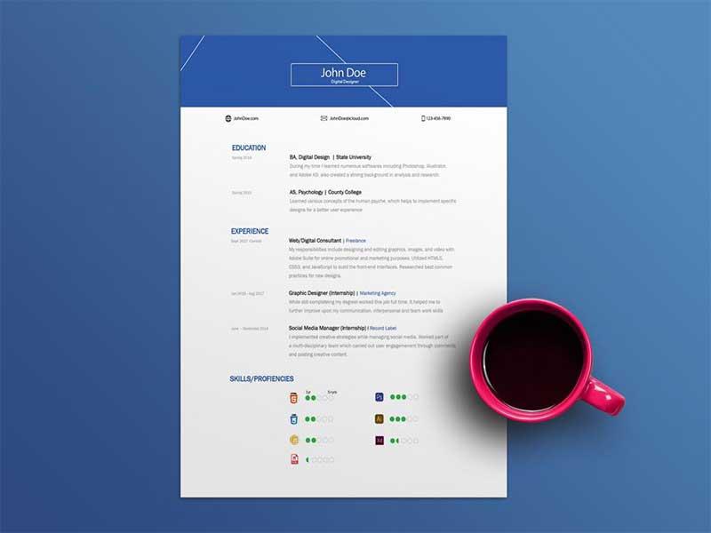resume-template-psd-free-7