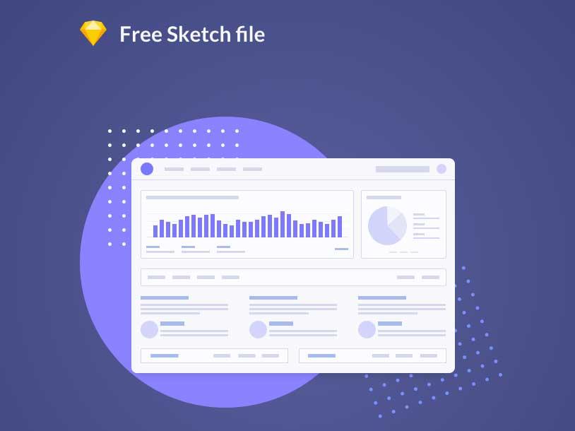 FREEBIE - Flat dashboard illustration