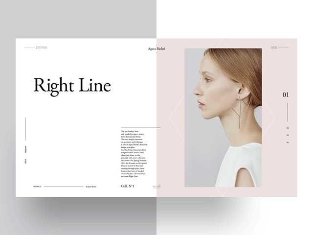 Agata Bielen Free PSD magazine template