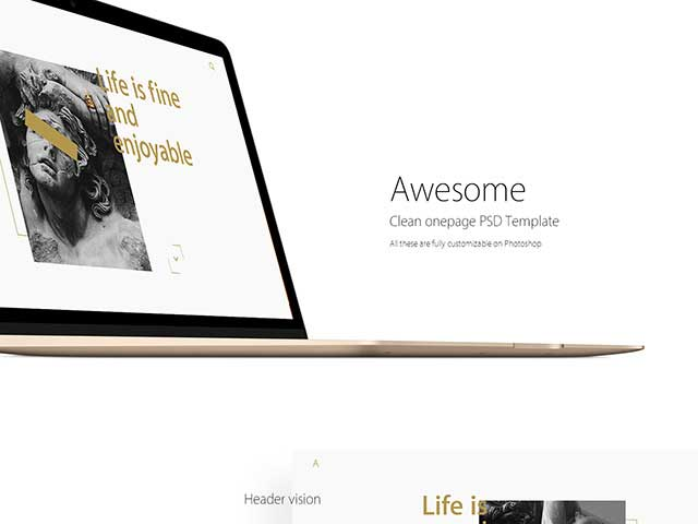 Clean-OnePage-PSD-template