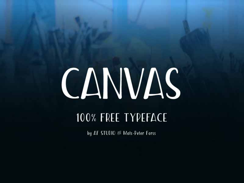 Canvas - Free Condensed Font