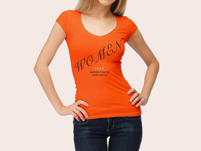 Woman-T-Shirt-Mockup