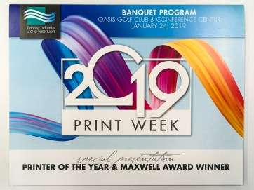 2019 Print Week Banquet Program