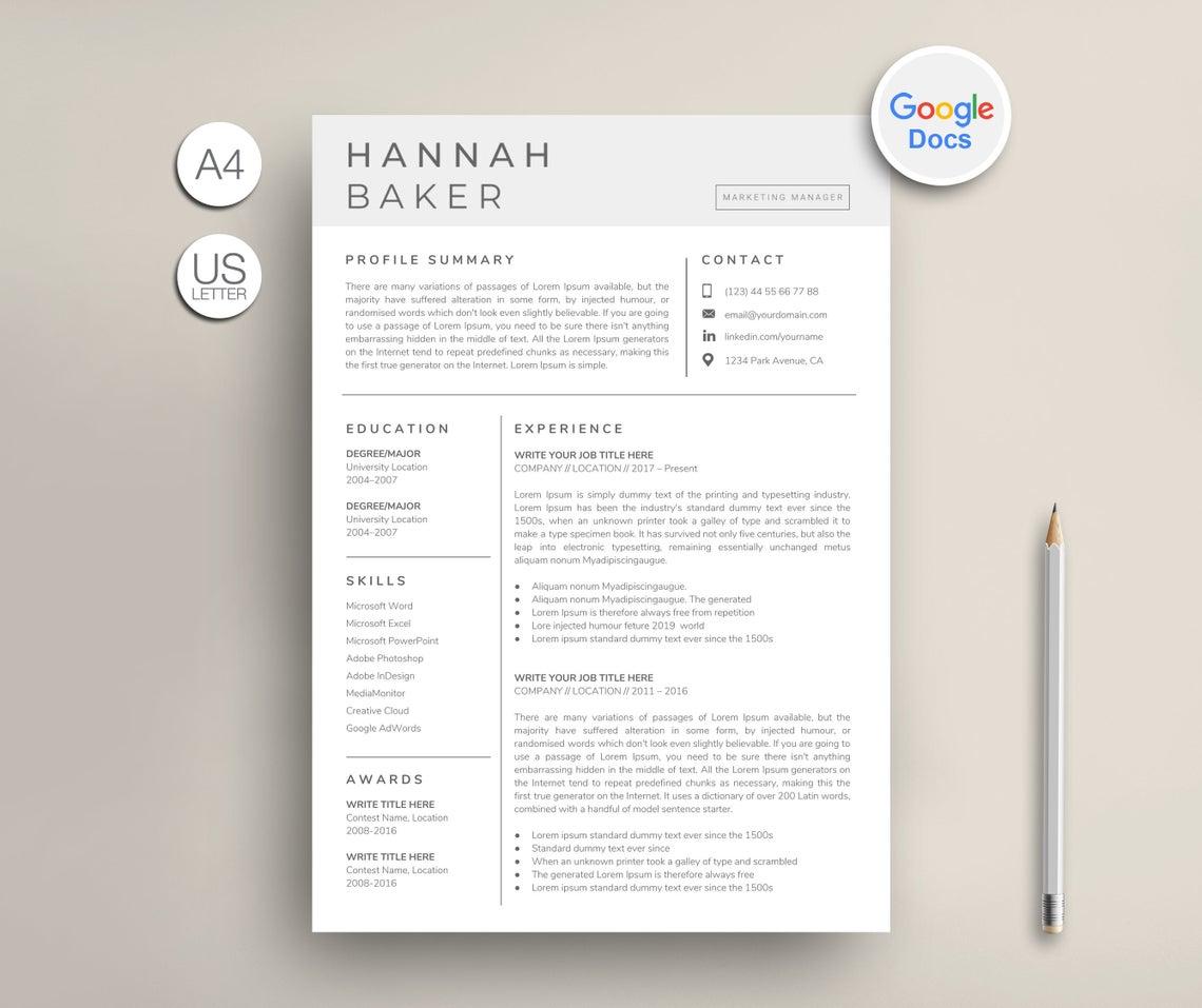 Creative Google Docs Resume 2021