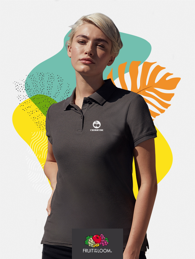 polo donna fruit of the loom 63030 donna cover