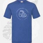t-shirt uomo fruit 61036 blu royal vintage-heather