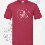 t-shirt uomo fruit 61036 rosso vintage heater