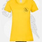 t-shirt donna fruit 61372 giallo girasole