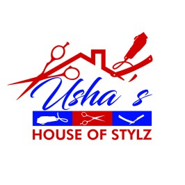 Usha's House Of Stylz Logo Design