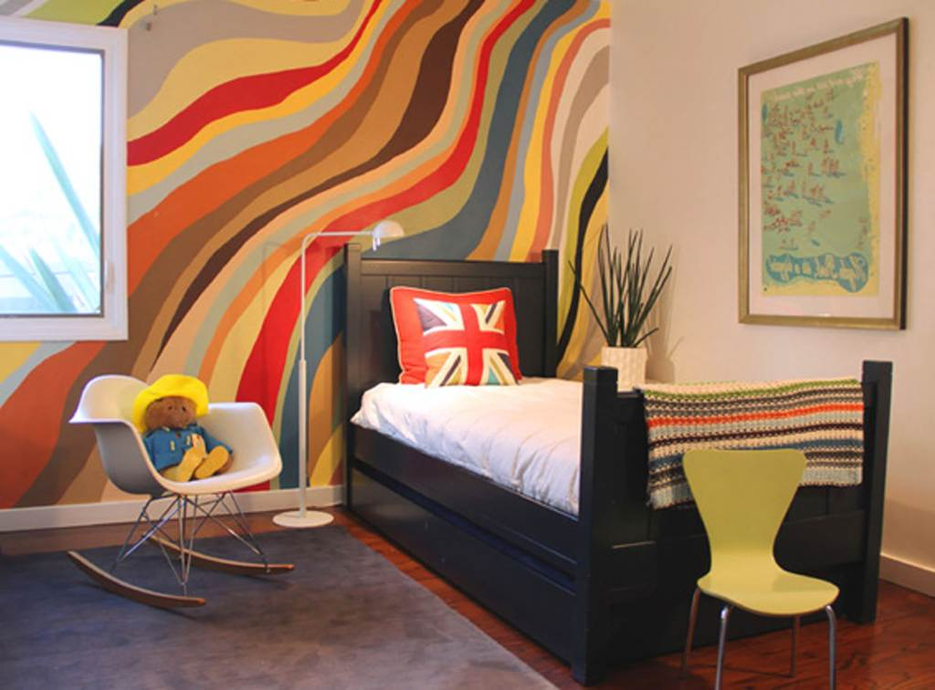 child bedroom with awesome paint wall and nice flag accent also good wall art framed