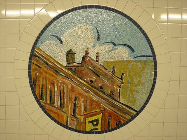 mosaic tile subway new york for decor idea