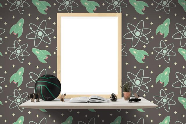 space wallpaper for kids room decor