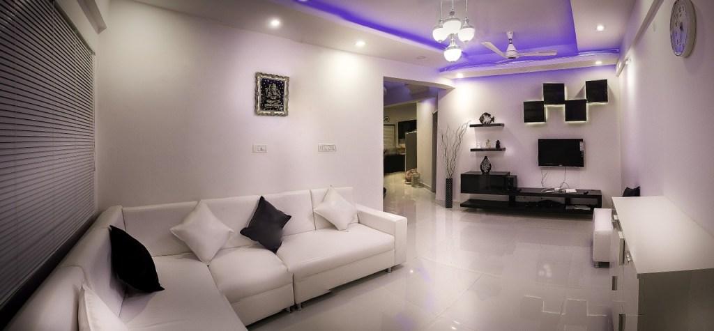 white sofa for hall apartment interior design