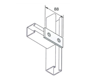 2 Hole Plate for Unistrut and Oglaended style metal frame
