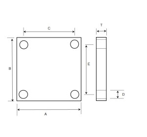 Graphskill SUMS : 4 Hole Foot Plate