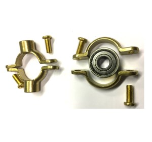 2 Brass Pipe Clamps, munsen type - with bearing