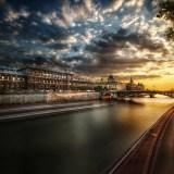 Paris The Barge and the Bridge