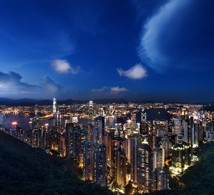 Pier, Hong Kong, Harbour, Night, Long Exposure