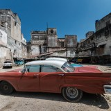 Red car in Havana