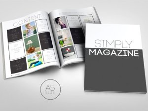 A5 Simply Magazine Template