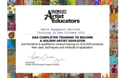 Now Certified as a Golden Artist Educator