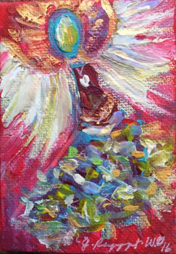 "Angel Within - 2.5"" x 3.5"" - $48"