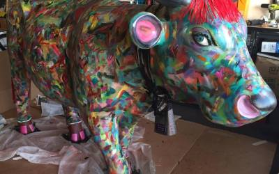 """Harmony of Love"" in San Luis Obispo County's CowParade"