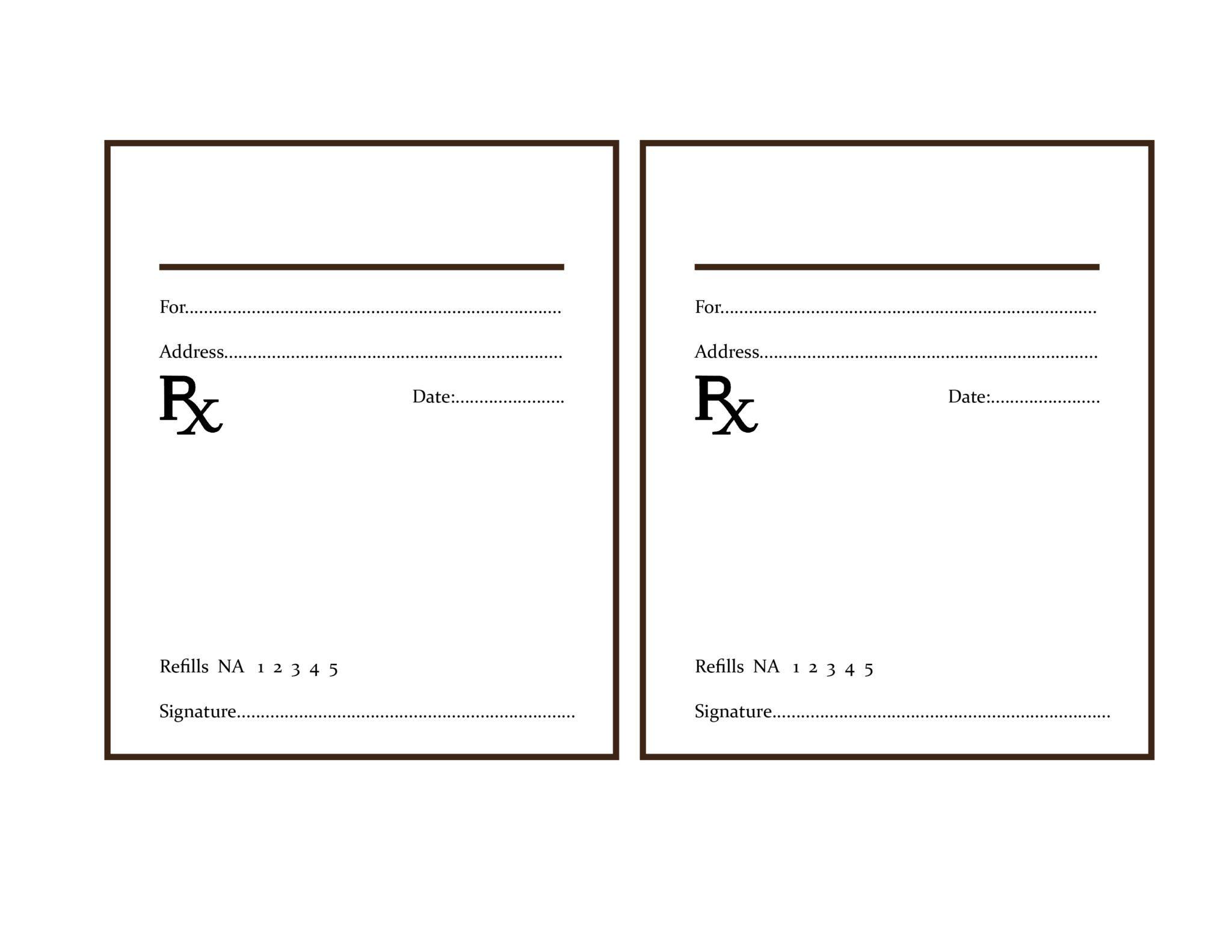 Printable Doctor Prescription