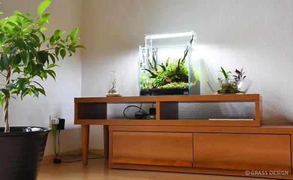 30cmキューブ水槽の台にテレビ台・ローボードを使用できるの?