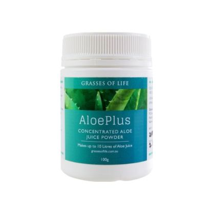 AloePlus Premium Aloe vera Juice Powder From Grasses of Life 100gr