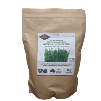 Grasses of Life Australian Organically Grown Power Greens Blend Grasses 1kg