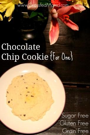 healthy chocolate chip cookie, sugar free, gluten free, grain free, coconut flour cookie