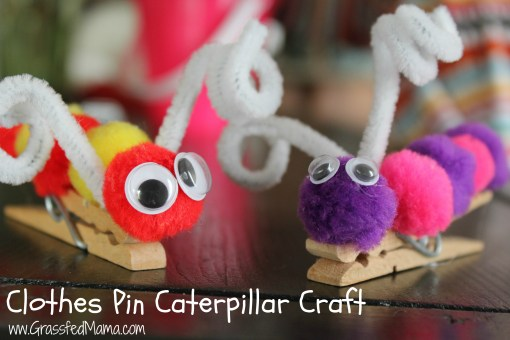 preschool craft, indoor activity, clothes pin preschool craft, homeschool lesson plan, very hungry caterpillar