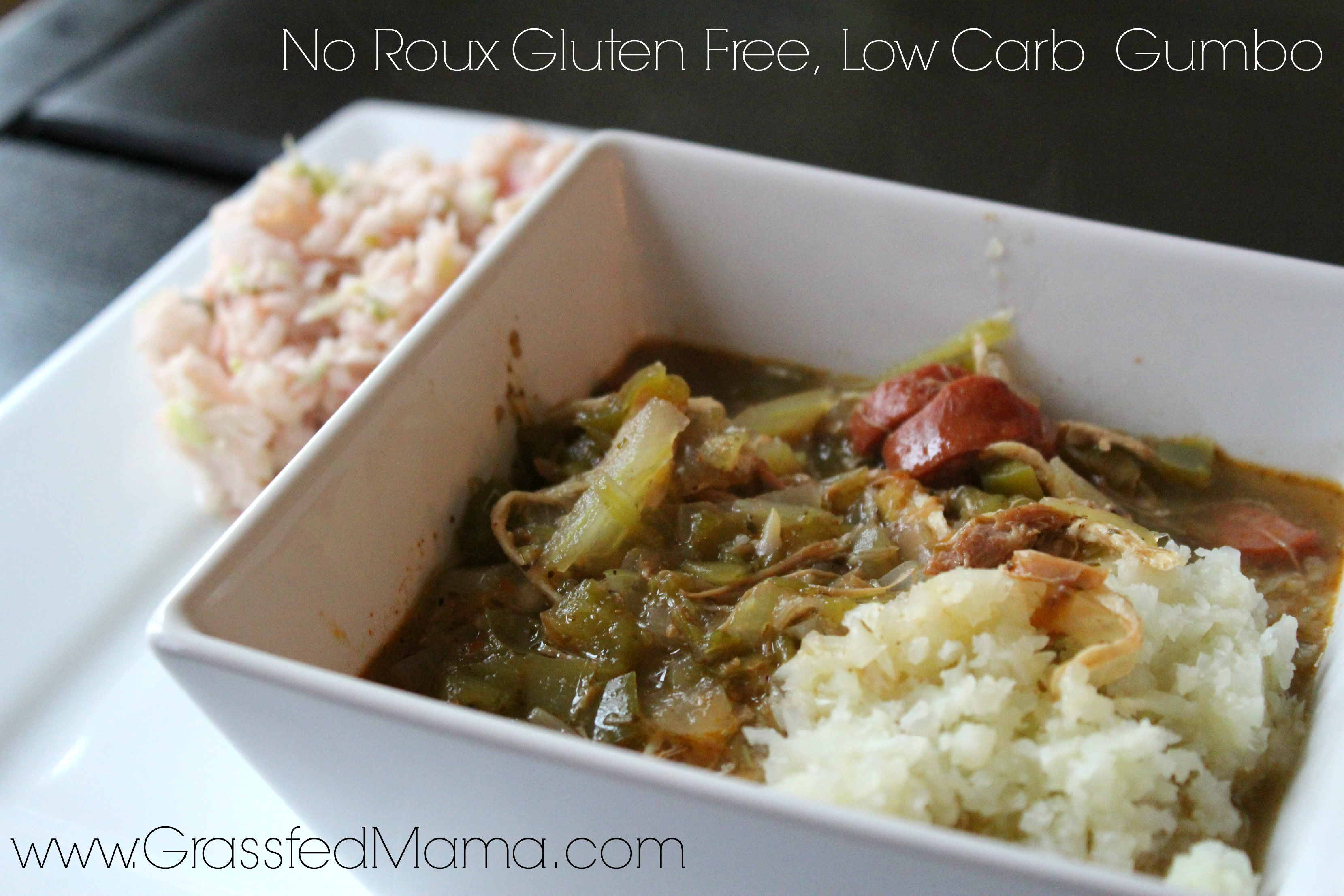 low carb, no roux, gluten free gumbo