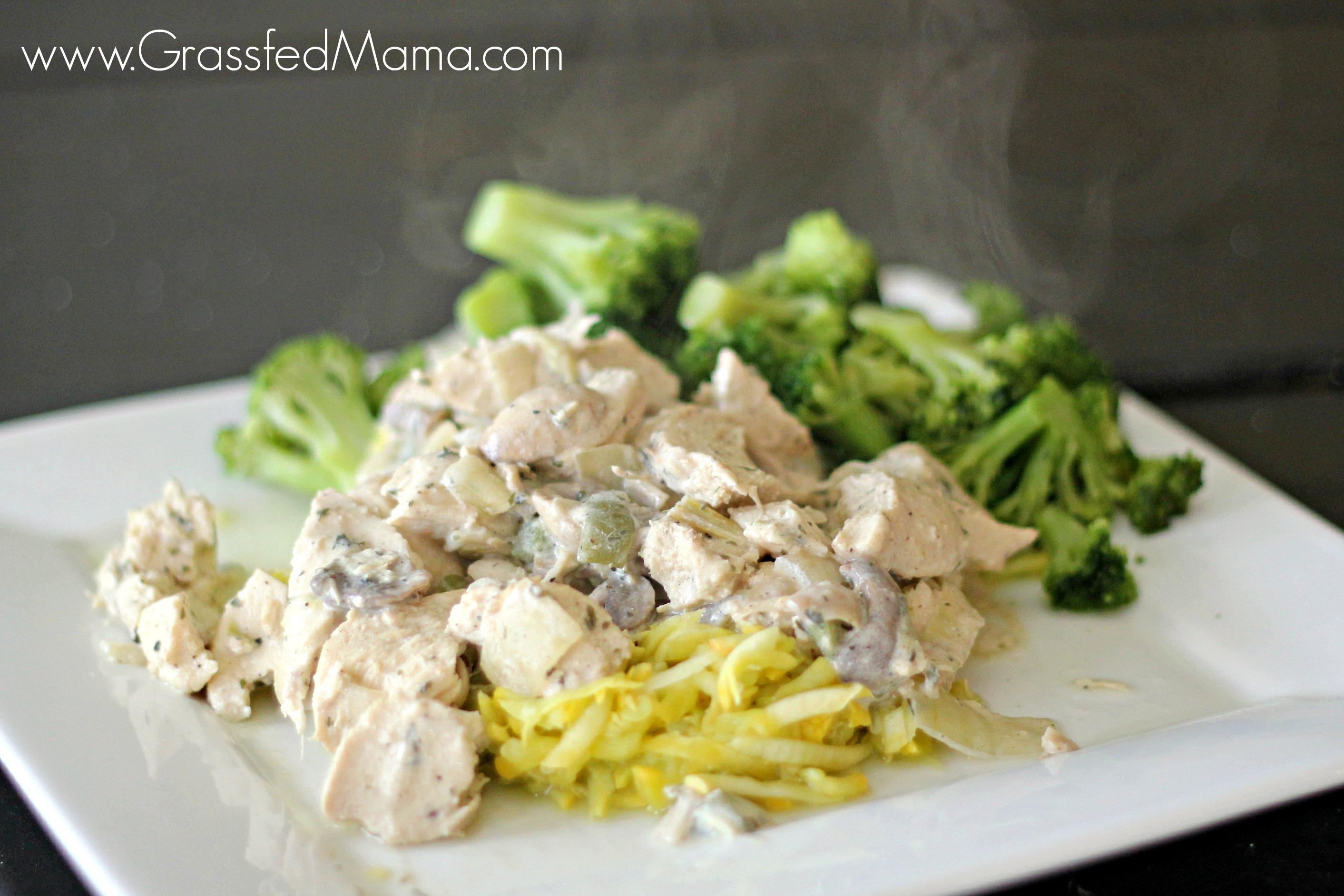 Healthy chicken a la king grassfed mama healthy chicken a la king forumfinder Images