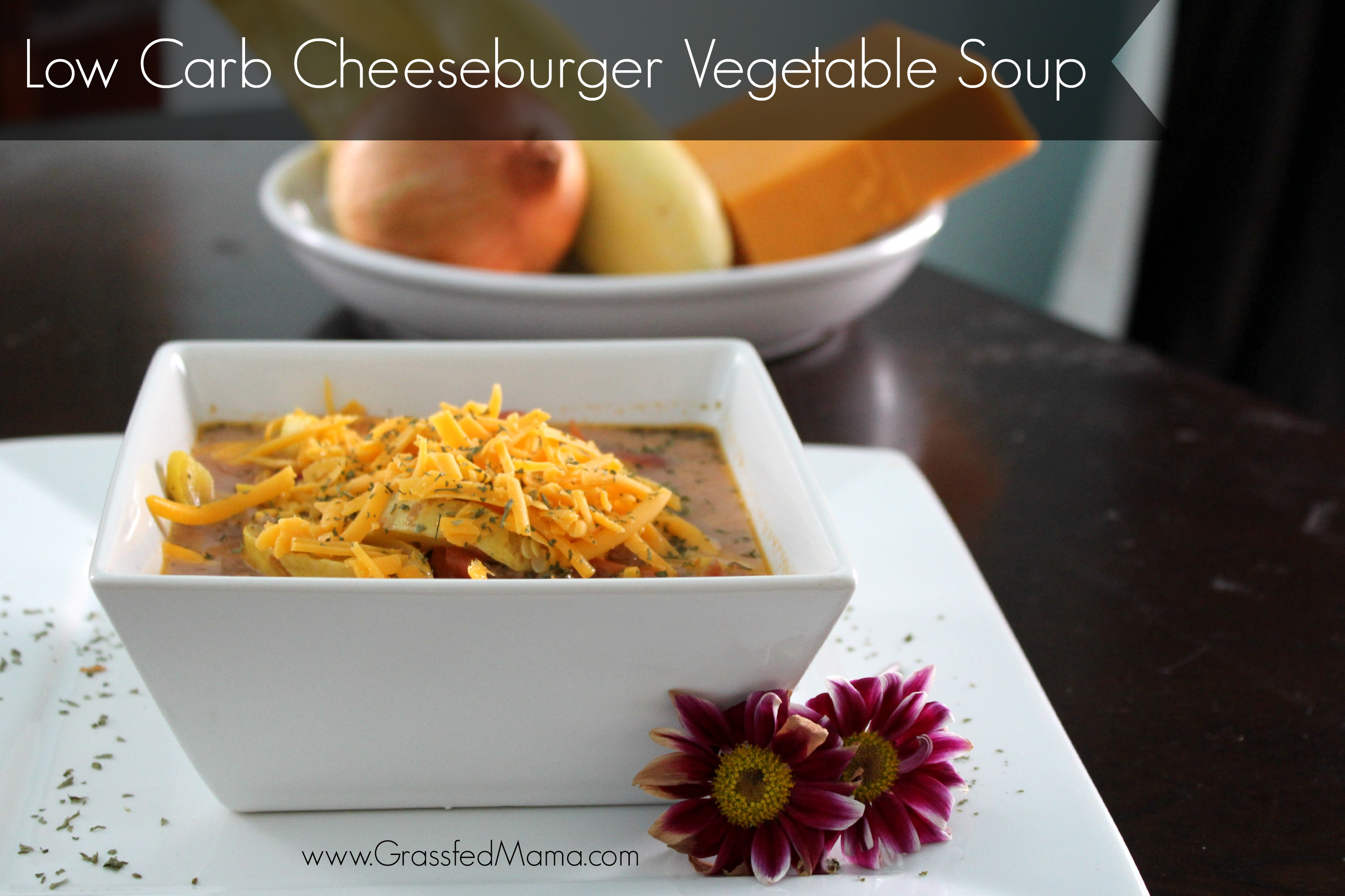 Low Carb Cheeseburger Vegetable Soup