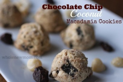 sugar free chocolate coconut macadamia cookies