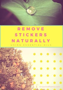 Remove Stickers Naturally with Essential Oils