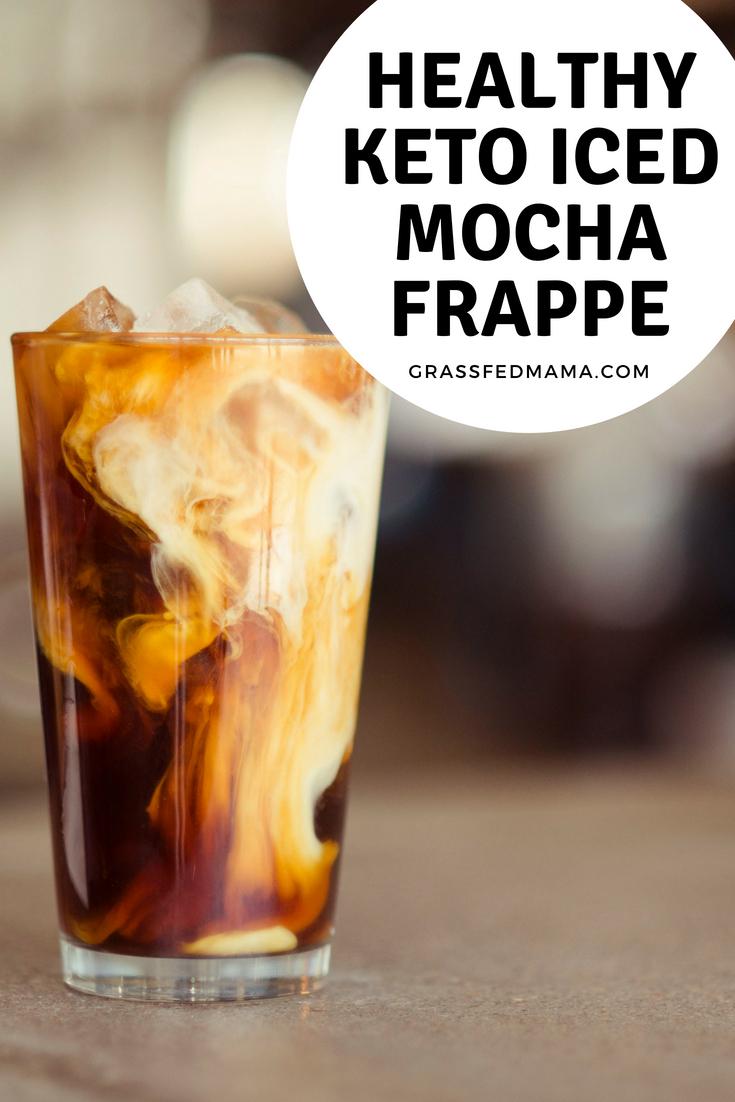 Healthy Keto Iced Mocha Frappe