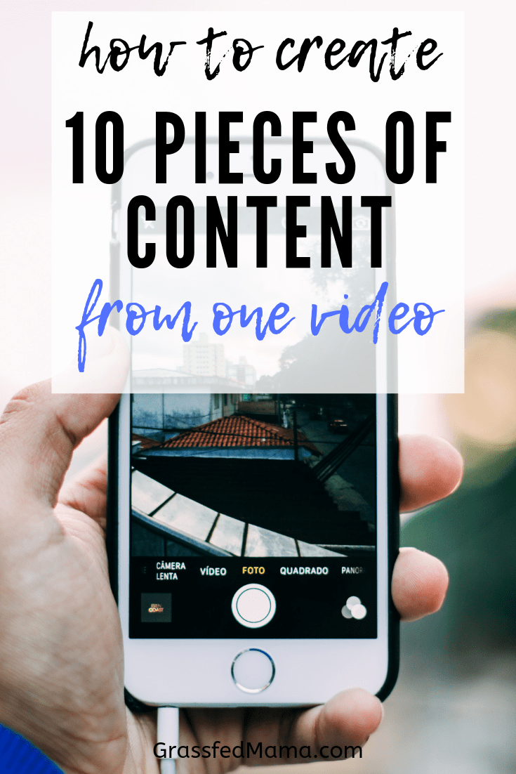 How to create 10 pieces of content from one video