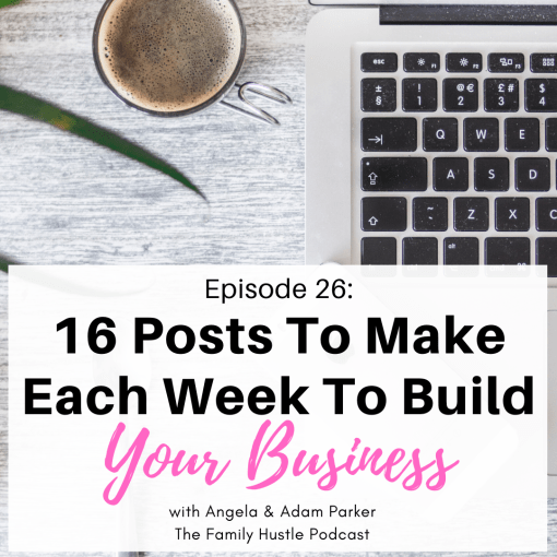 16 Posts to Make Each Week to Build Your business