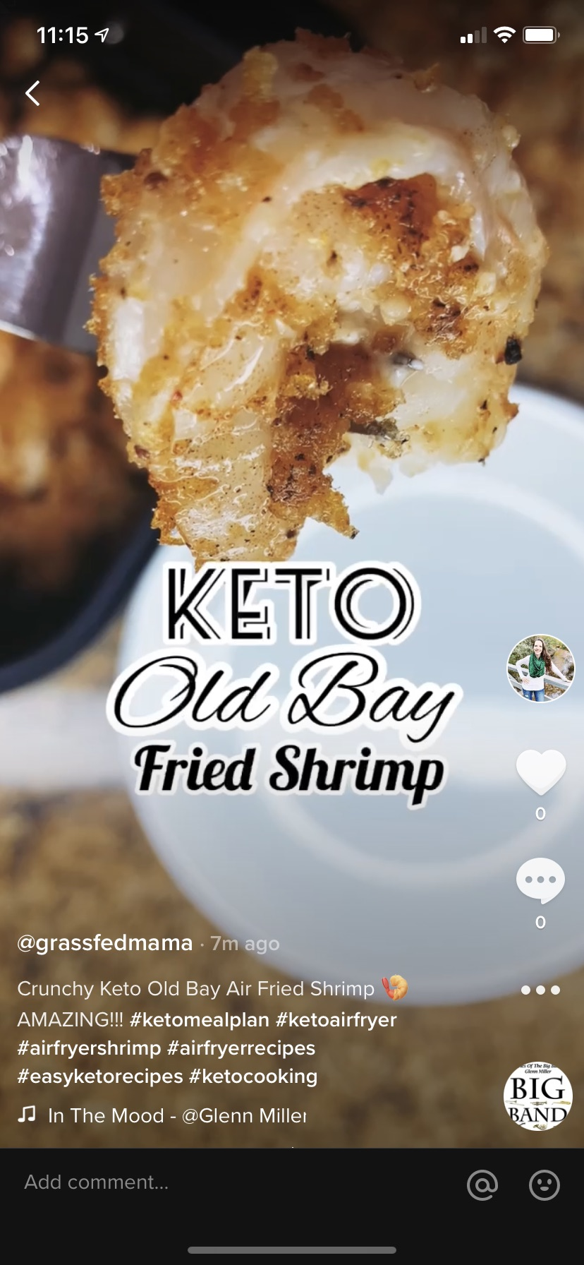 Keto Old Bay Air Fried Shrimp