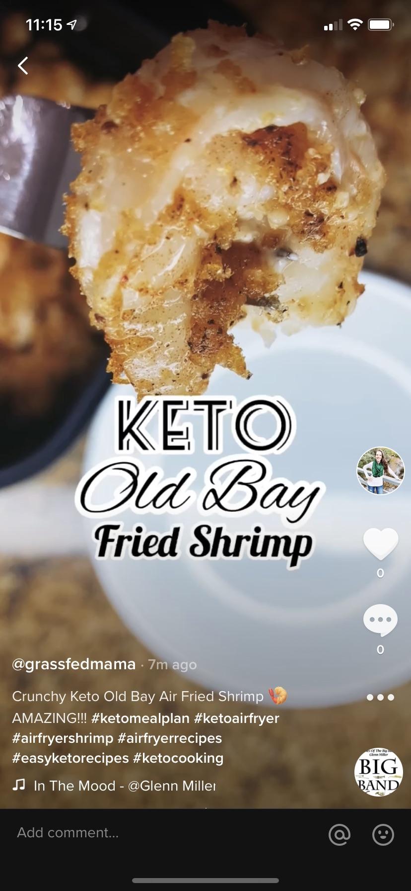 Keto Old Bay Air Fried Shrimp