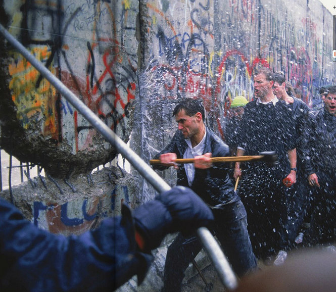 When Liberty Knocked Down the Berlin Wall