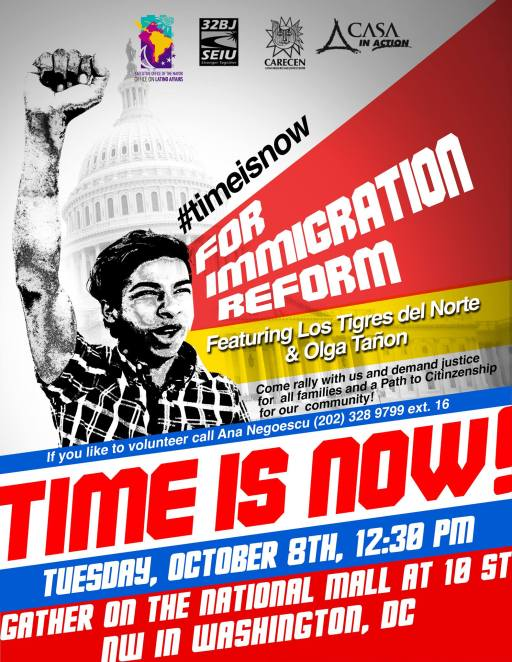 Time is Now Immigration rally 10/8/2013