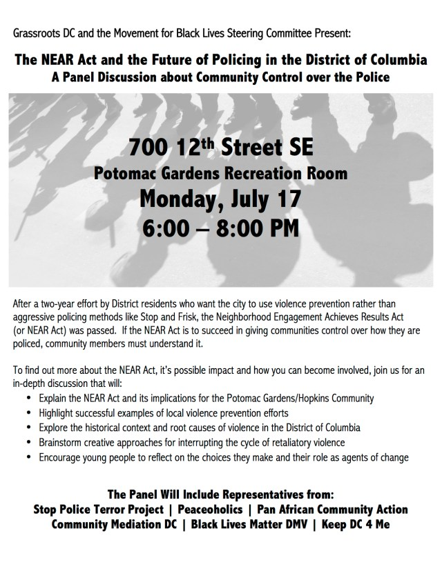 The NEAR Act and the Future of Policing in the District of Columbia