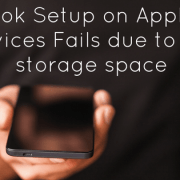 Outlook Setup on Apple iOS Devices Fails due to low storage space